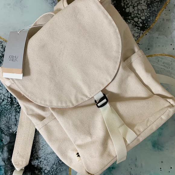 4a5782598ad3 Joshu + Vela waxed stone canvas cotton backpack
